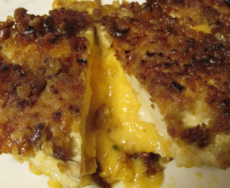 Pretzel Crusted Cheddar Stuffed Chicken