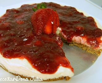 CHEESECAKE DE MORANGO #RECEITAVIDEO