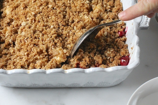 Apple, Pear, Cranberry Crisp.  Or Crumble.