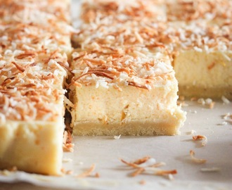 When brûlée goes bad: Lemon Coconut Cheesecake Bars
