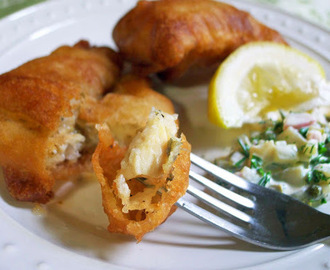 Fish in Beer Batter with Tartar Sauce