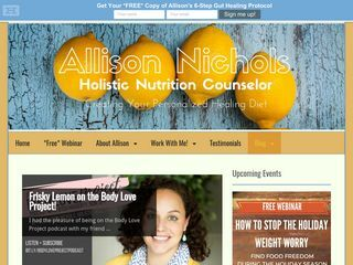 Allison Nichols Holistic Nutrition Counselor