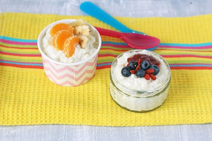 Sugar Free Coconut Rice Pudding {Suitable for Weaning}