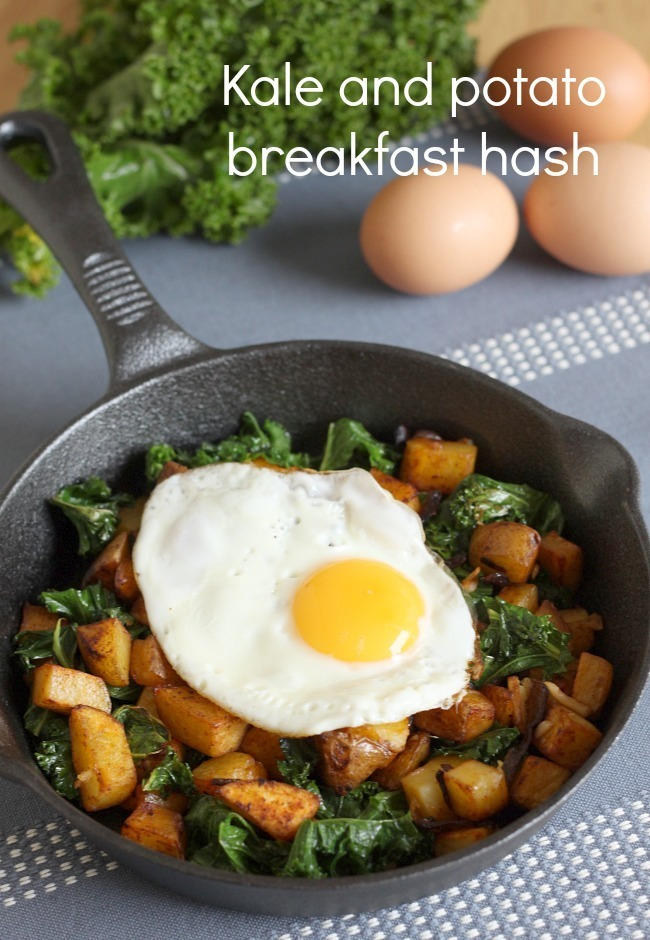 Kale and potato breakfast hash