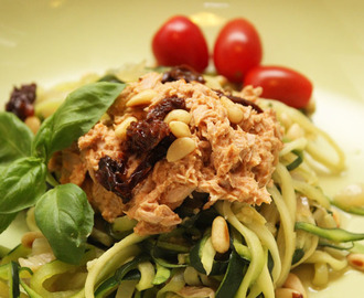 Doordeweeks recept: courgetti met tonijn