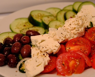 Greek Salad with Pistachios