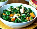 Autumn Salad with Butternut Squash, Turkey, and Kale