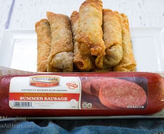 Zesty Garlic Summer Sausage Egg Rolls