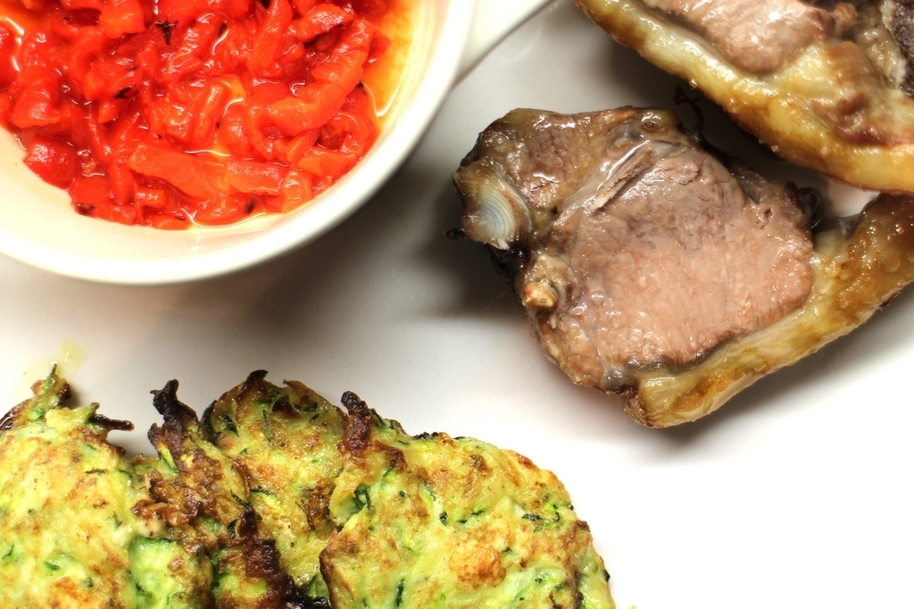 Recipe: Courgette Feta Fritters, and Awesome Tabasco Dressing