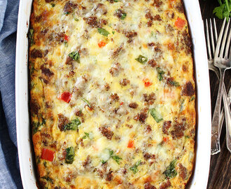Sausage, Cheese, and Potato Egg Casserole
