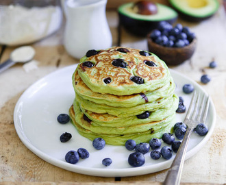 Blueberry Avocado Pancakes