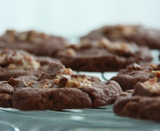 Chocolate Snickers Cookies - for Chocoholics only!