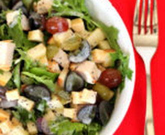 Chicken Dinner Salad with Smoked Gouda and Grapes