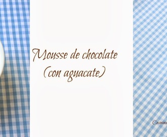 Mousse de chocolate (con aguacate)