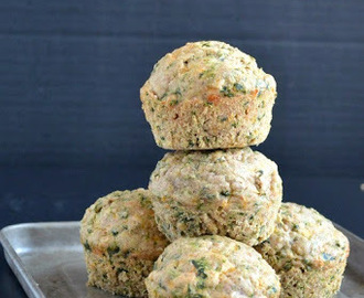 Spinach Cheddar Muffins (Savory)