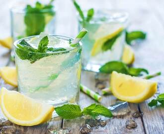 Homemade Lemonade With Minty Flavor And Taste