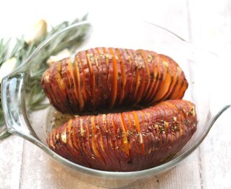 Garlic & Herb Hasselback Sweet Potatoes