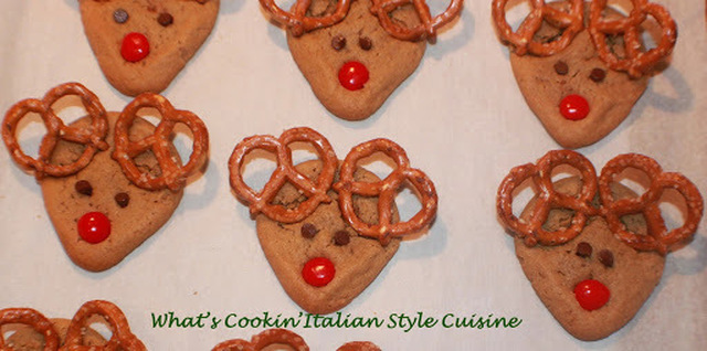 Mom's Old Fashioned Recipe for Peanut Butter Cookies Making Reindeers