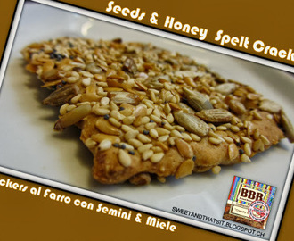 Seeds and Honey Spelt Crackers - Crackers al Farro con Semini e Miele