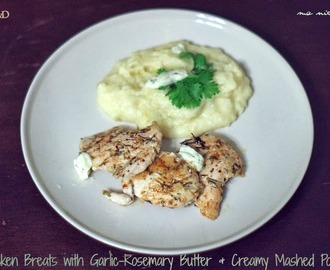 Chicken Breast with Garlic-Rosemary Butter # French Fridays with Dorie