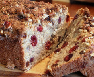 Apple Cranberry Streusel Bread