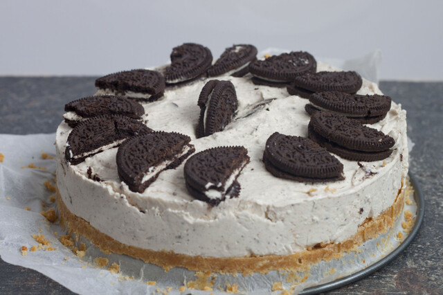 No bake oreo en kokos cheesecake