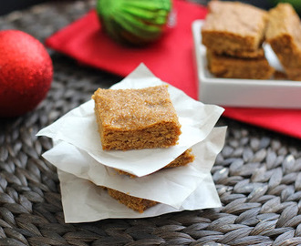 Ginger Molasses Cookie Bars Recipe