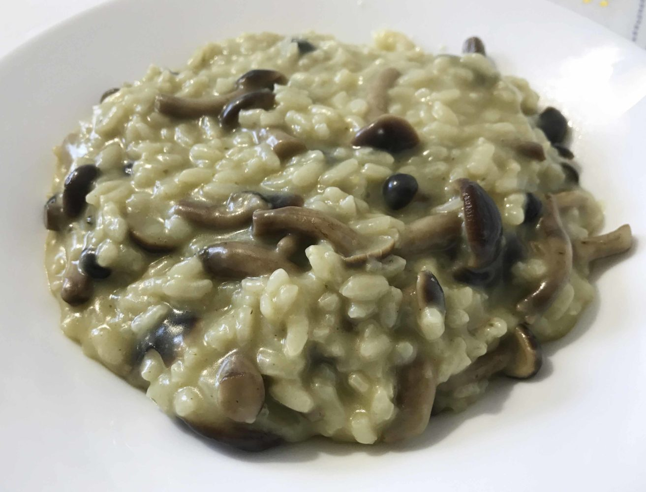 Risotto con pioppini e asiago