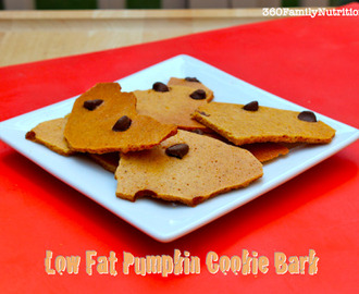 Low Fat Pumpkin Cookie Bark