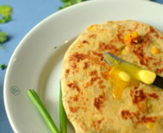 Spring Onion Potato Stuffed Flatbread  – Hare Pyaz ka Kulcha