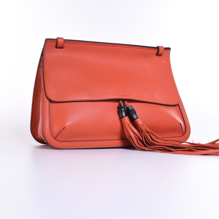 Gucci Borsa bambu dagligen, mörk Orange ONE SIZE