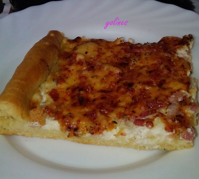 Pizza carbonara ( thermomix )