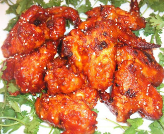 Baked Chicken Wings with Spicy Korean Barbecue Sauce