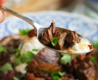 Venison chilli with chocolate