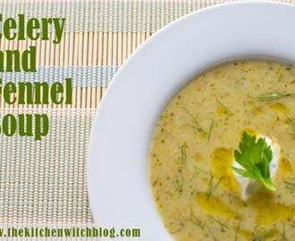 Roasted Celery and Fennel Soup