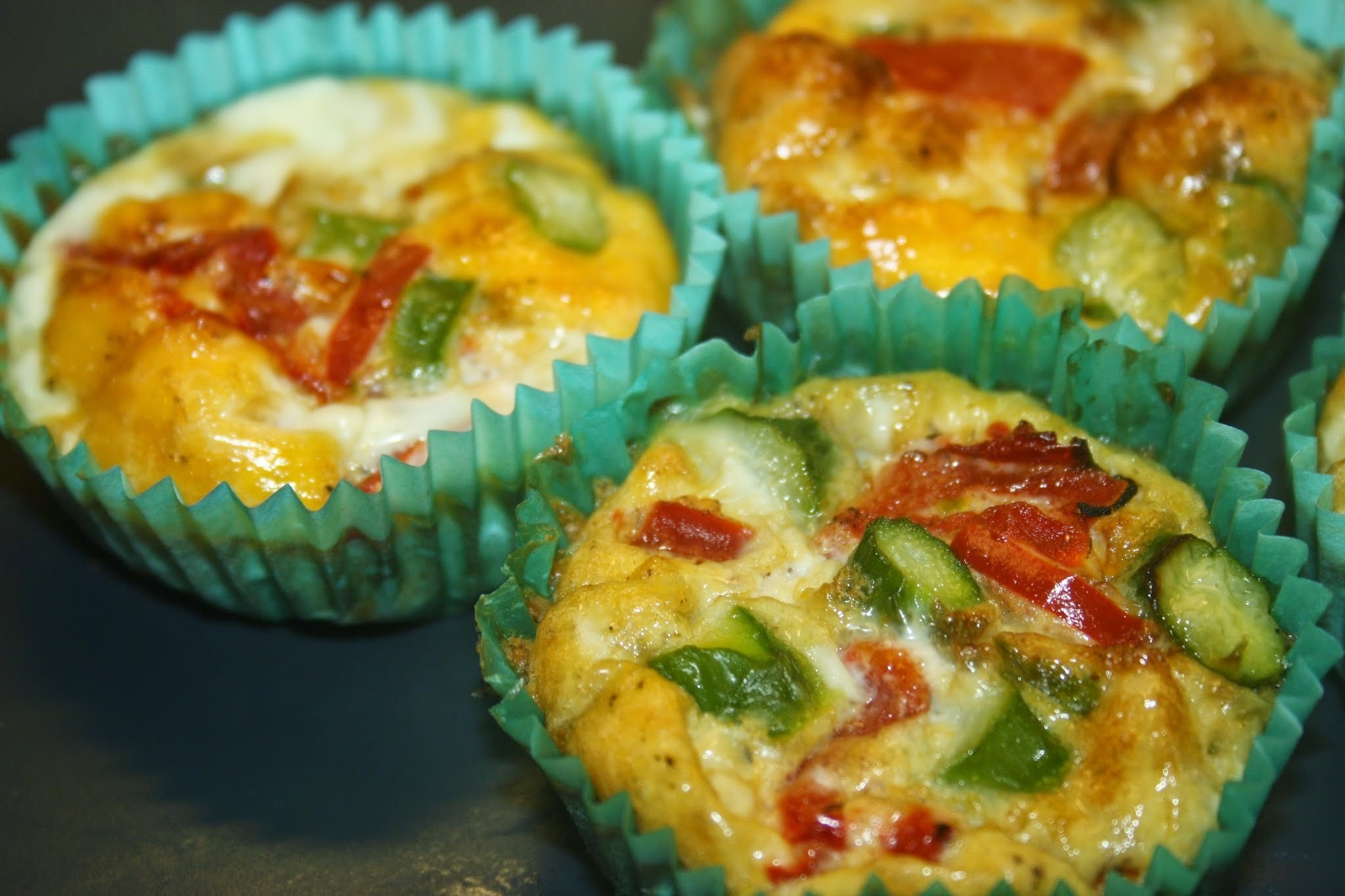 Slimming World Asparagus and Red Pepper Muffins