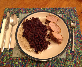 Cuban Black Beans and Pork Tenderloin