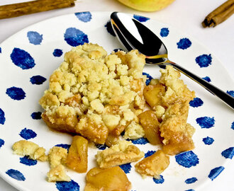 Apple crumble met kaneel
