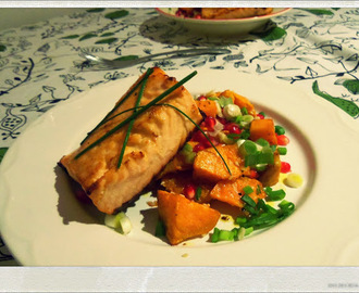 Sweet Potato Salad and Simple Salmon | You've Got Meal!