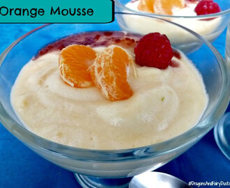 Orange Mousse with Raspberry Sauce