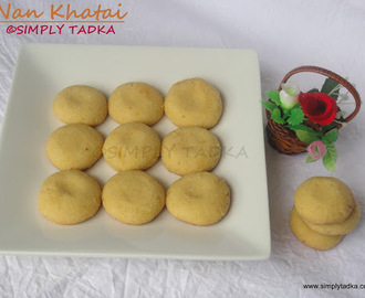 Nan Khatai/  Indian Butter Cookies