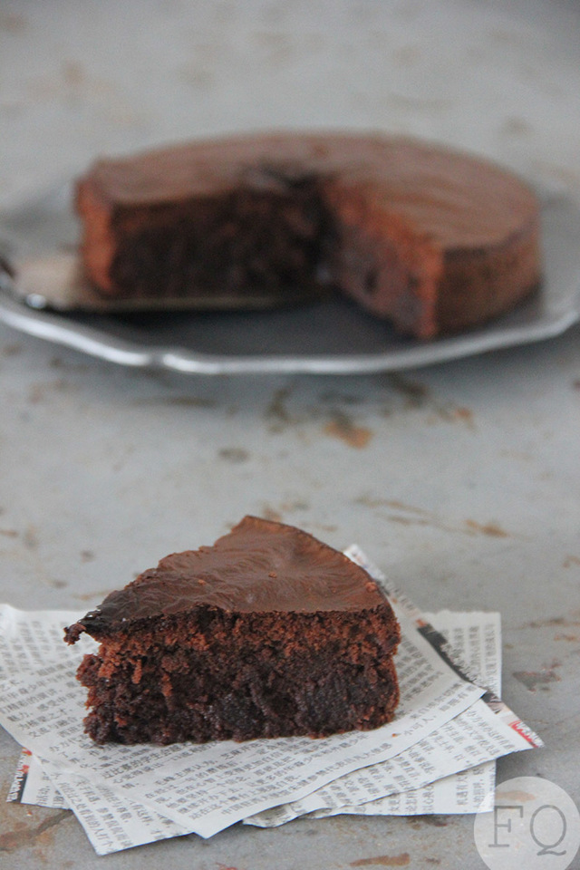 Nutella brownie cake