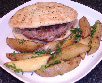 Spicy Turkey Naan Burgers and Wedges