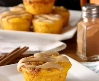 Pumpkin Cinnamon Roll Muffins (Guest Post)