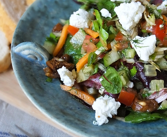 Cretan Summer Salad with Figs & Goat's Cheese