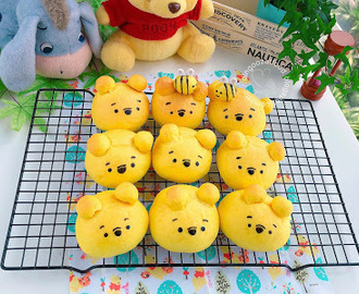 Pooh Bear Soft Butter Bread 维尼熊造型软面包
