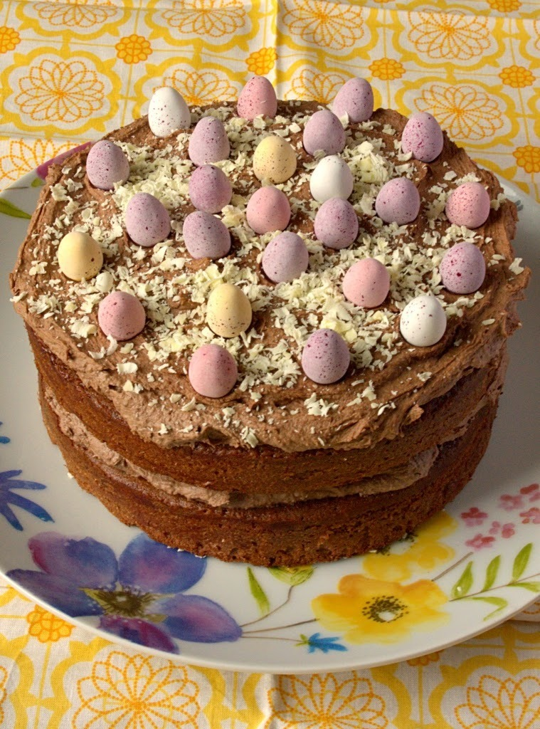 Malted Chocolate Easter Naked Cake
