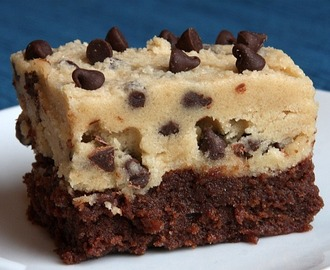 Chocolate chip dough brownies - Recept