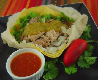 Tacos de Carnitas (Shredded Pork Soft Tacos)