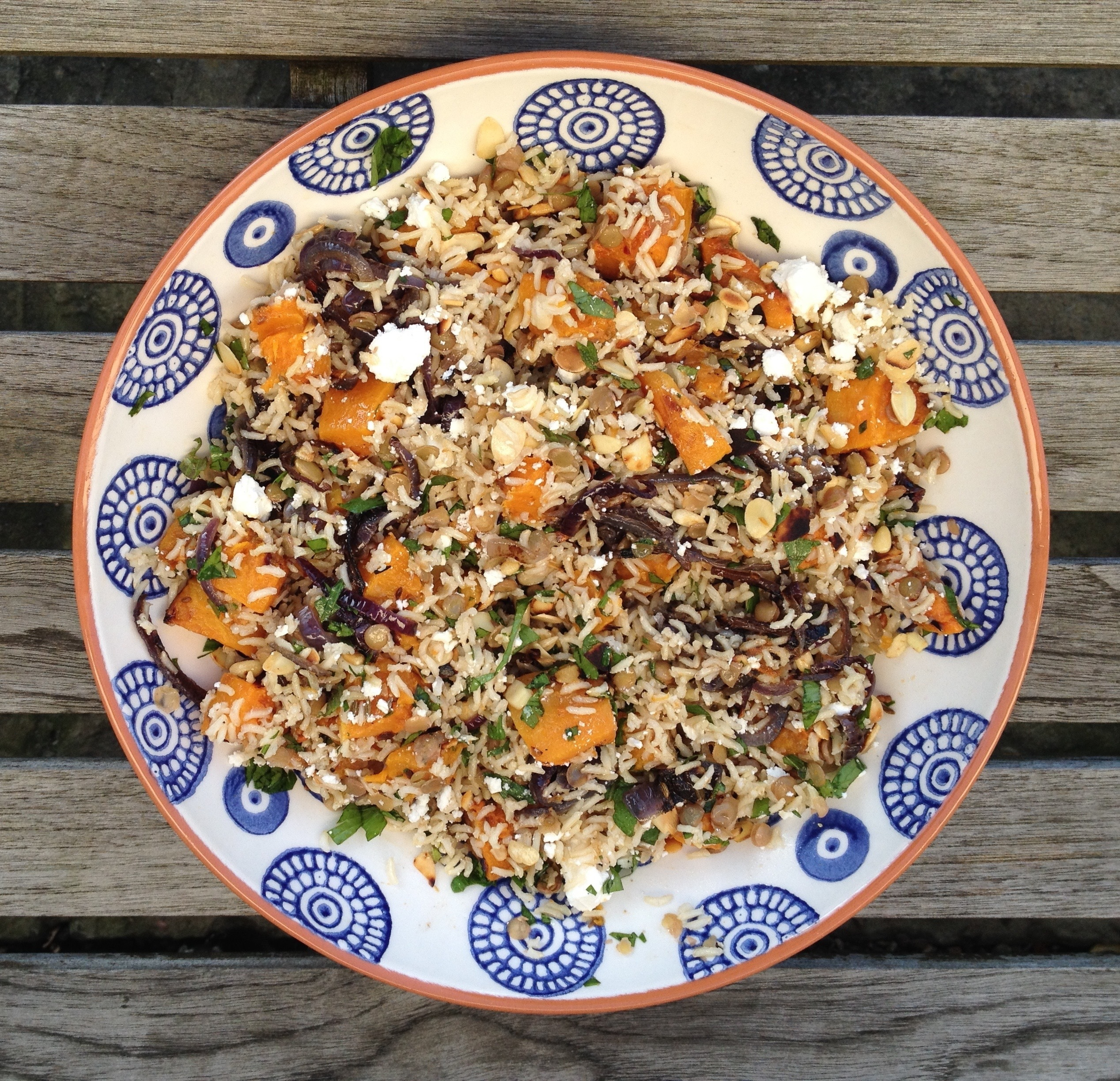 #Tasteofsummer – roasted butternut squash pilaf with feta